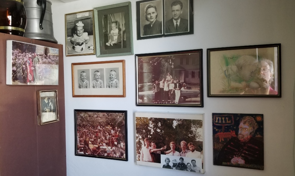my wall of old photos